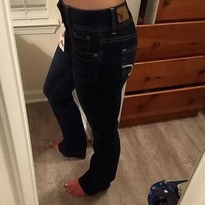 NWT AE Jeans Kick Boot size 0 dark rinse